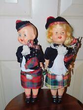VINTAGE HARD PLASTIC WALKER MONTEITHS of Glasgow boy girl dolls Athole Scotland