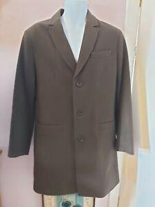 Men's Linea Size M Dark Olive Green Wool Blend Coat