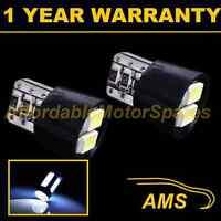 2X W5W T10 501 CANBUS ERROR FREE XENON WHITE 4 LED SMD SIDELIGHT BULBS SL102004