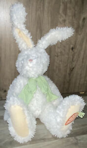 "NWT Boyds Springsley Hopplebuns Stuffed Animal 17"" Jointed Plush White Fuzzy"