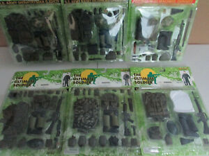 """21ST CENTURY """" U.S. UNIFORM LOT"""" / ULTIMATE SOLDIER (6) NEW/CARDED"""