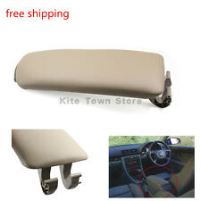 NEW US Beige Leather Center Console Armrest box Cover Lid for Audi A4 B7 04-08