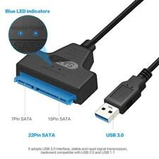 "2.5"" Laptop HDD SSD Hard Disk Drive SATA 7+15 Pin 22 to USB 3.0 Adapter Cable"