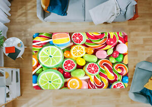 3D Fruit Candy ZHUA2299 Game Non Slip Rug Mat Photo Carpet Zoe