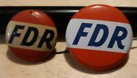 Rare Vintage Political Pinback FDR Originals Lot Of 2 Pp29