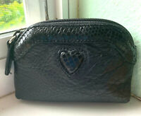 BRIGHTON Coin Purse Leather Croc Heart Embossed.Teacher Gift, Stocking Stuffer