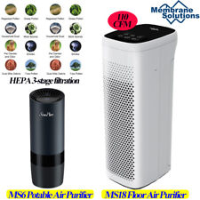 H13 True Hepa Air Purifiers for Home Large Room Up to1500ft² Air Cleaner 3-Stage