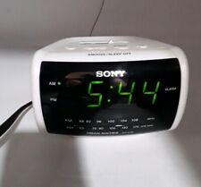SONY DREAM MACHINE Vintage Alarm Clock AM/FM Radio Electronic ICF-C112 White Vtg