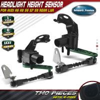 2x Headlight Level Sensors Rear for Audi A6 A8 S6 S7 S8 4H0941309C 4H0941310C