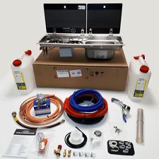 SMEV 9722R SINK AND HOB FULL HOT & COLD INSTALLATION KIT FOR CAMPERVAN MOTORHOME