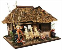 Billy Handmade Miniature Dollhouse Model Kit Tono Thatched House 8618