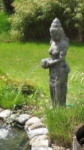 Dewi Tara Statue Shiva XL Hindu Gottheit Lava Stein massiv Bali Garten Terrasse
