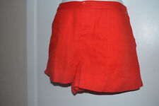 C & C california medium solar red linen blend button fly shorts NWT