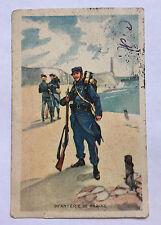 CPA Ancienne Carte Postale Dessin Infanterie de Marine - datée 1915