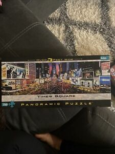 Buffalo Games Time Square Panoramic Puzzle 750 Pieces 38.25 X 11.25 Inches