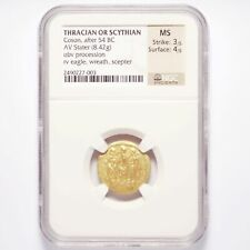 After 54 BC Thracian or Scythian Gold Coson AV Stater 8.42g NGC MS 3/5, 4/5