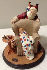 "Norman Rockwell ""Christmas Dream� Figurine Ii Issue Heirloom Santa Collection"