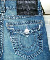 *HOT AUTHENTIC Men's TRUE RELIGION @ BILLY SUPER T -GR BOOTCUT DARK Jeans 31 x31