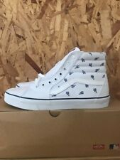 VANS SK8 HI MLB LOS ANGELES DODGERS WHITE SIZE 12 NEW WITH BOX