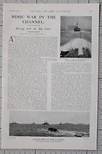 1901 Estampado Acorazados de X Flota Admiral WILSON'S Grande Armas War En Canal
