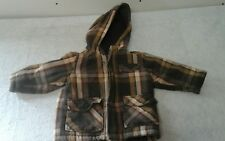 Boys  OLD NAVY  brown plaid  jacket  coat size 2t