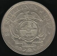 1897 South Africa Silver 2 1/2 Shilling Coin | World Coins | Pennies2Pounds