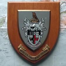 Vintage RAF Royal Air Force Staff College Station Crest Shield Plaque