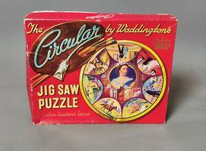 Vintage Waddingtons 1950s Circular Jigsaw, Coronation