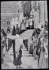 Glass Magic Lantern Slide JESUS PRESENTATION IN TEMPLE C1890 DRAWING RELIGION