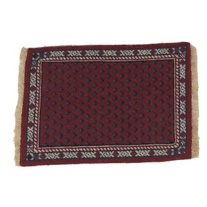 Vintage Needlepoint Petit Point Doll House Persian Carpet / Area Rug 1:12 Formal