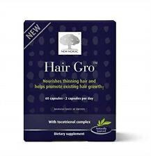 New Nordic Hair Gro 60 Capsules Expiration Date January 2021