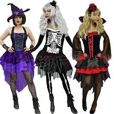 Yummy Bee Halloween Fancy Dress Costume Women Witch Vampire Skeleton Plus Size