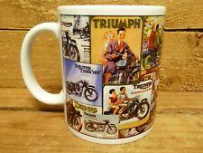 300ml COFFEE MUG - TRIUMPH MOTORCYCLE COLLAGE