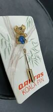 More details for vintage qantas koala pin with stunning opal triplet with original packaging