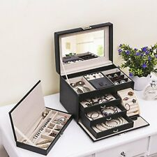 Best Choice Products Leather Jewelry Box & Organizer Watch Travel Case XMAS GIFT