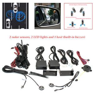 Car Truck Blind Spot Mirror BSD BSM Radar Detection System Microwave Sensor set