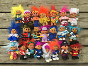 Lot Of 22 Russ Troll Dolls: Storybook Holiday Sports Around The World