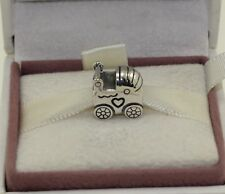 AUTHENTIC PANDORA Baby Carriage Charm 790346    #696