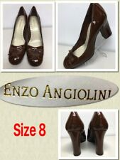 Enzo Angiolini MSRP $87  Size 8  Brown Patent Leather Heels Tassel Pumps 396017