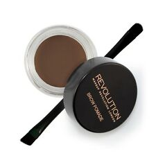 Makeup Revolution Brow Pomade Eyebrow Liner HD Brow Gel With Brush Dark Brown