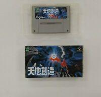 TENCHI SOZO   wuth BOX Nintendo Super Famicom  SFC SNES Japan USED