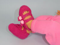 PRINTED INSTRUCTIONS-BABY 2 STRAP SANDALS KNITTING PATTERN