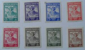 Discount Stamps : INDONESIA 1954 SC#B69-76 MERAPI VOLCANO 8v MINT SET