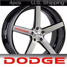4 DODGE Stickers Decals Wheels RIMS Door Handle Mirror Challenger Chrysler RED