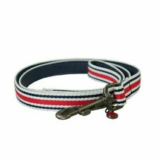 Joules Coastal Dog Lead Red, White, Blue Stripes