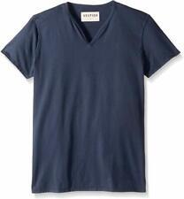New! Vestige Men's Apparel Men's Notch Short Sleeve Cotton Henley T Shirt, L