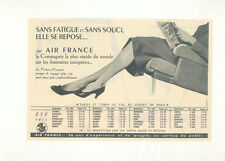 AIR FRANCE publicité 1955 Tarif temps de vol Vickers Viscount AVION Aviation TBE