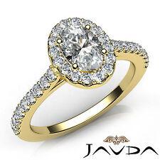 U Shape Prong Set Oval Diamond Engagement Ring GIA D VVS1 18k Yellow Gold 1Ct