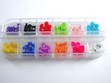 60 PCS Mix Multi Color 3D Bows Bow Tie Rhinestone Design For Nail Art Scrapbook