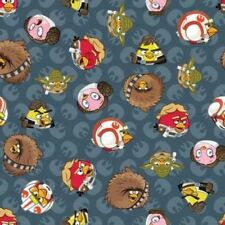 Camelot Cottons Angry Birds Star Wars 73300107 1 Grey Rebel Leader Cotton Fabric